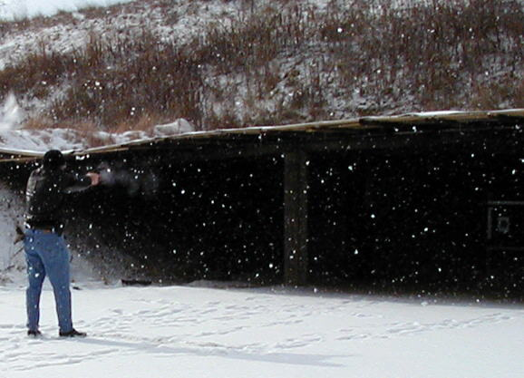 Shooting while the snow flys.
